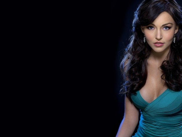 Wallpaper actress, brunette, girl, dress, neckline, long hair, angelique boyer